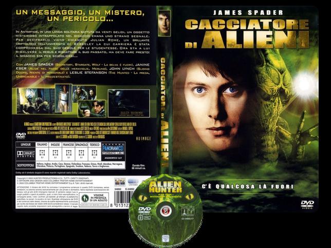 Cacciatore di alieni- Alien hunter - Copertina DVD + CD