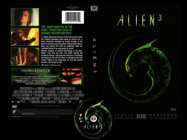 Alien 3 - Copertina DVD + CD