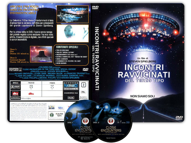 Incontri ravvicinati del 3° tipo - Close Encounters Of The Third Kind - Copertina DVD + CD