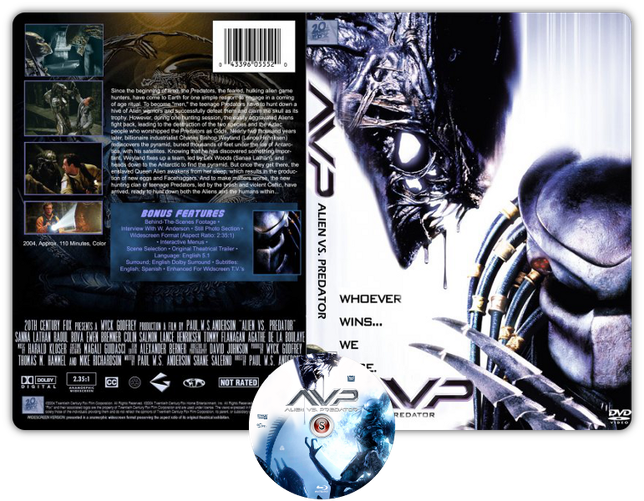 Alien Vs Predator - Copertina DVD + CD