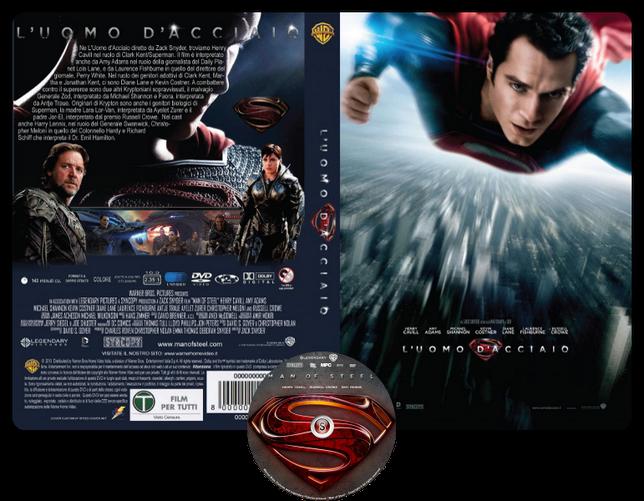 L'uomo d'acciaio - Man of steel - Copertina DVD + CD