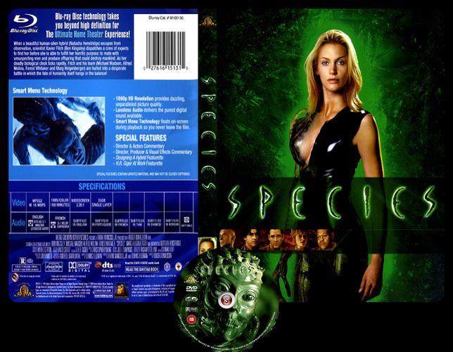 Species - Specie mortale -  Copertina DVD + CD