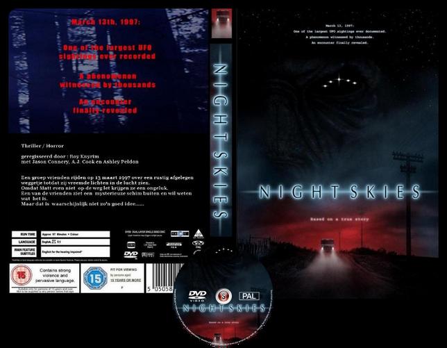 Night skies  - Copertina DVD + CD
