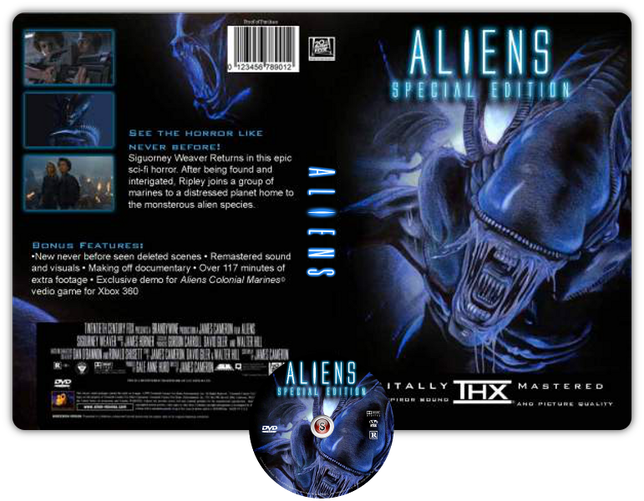 Aliens Scontro finale - Aliens This time it's war - Copertina DVD + CD