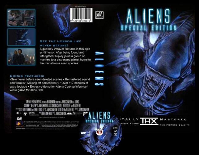 Aliens Scontro finale - Aliens This time it's war - Copertina DVD + CD
