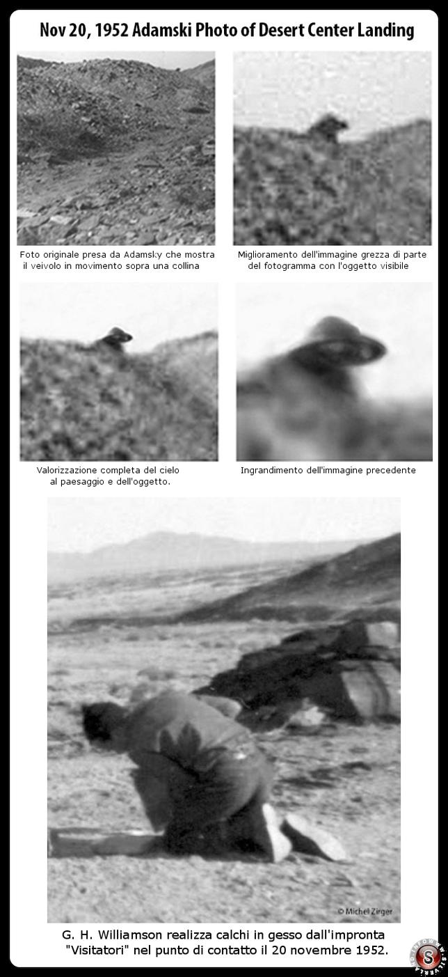 G.H. Williamson mentre realizza i calchi + analisi di una foto fatta da George Adamsky