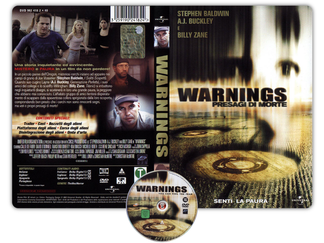 Warnings - Presagi di morte - Copertina DVD + CD