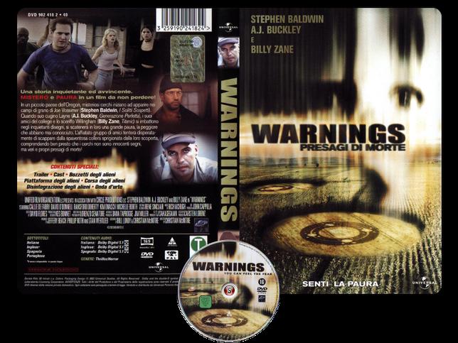 Warnings - Presagi di morte - Copertina DVD + CD