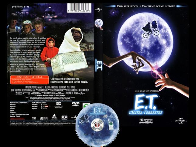 E.T. L'Extra-Terrestre - E.T. The Extra-Terrestrial - Copertina DVD + CD