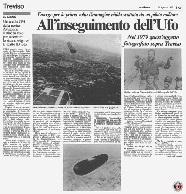 Giornale La Tribuna di Treviso del 19 Agosto 1995 ricostruzione immagine articolo completo Silverland