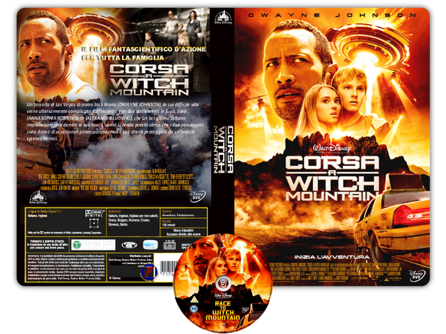 Corsa a Witch Mountain - Race to Witch Mountain - Copertina DVD + CD