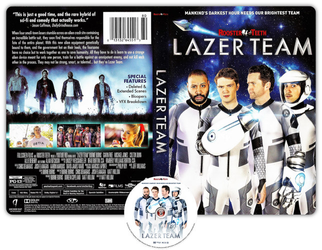 Lazer team - Copertina DVD + CD