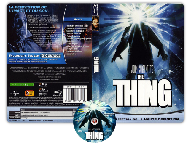 La cosa - The thing - Copertina DVD + CD