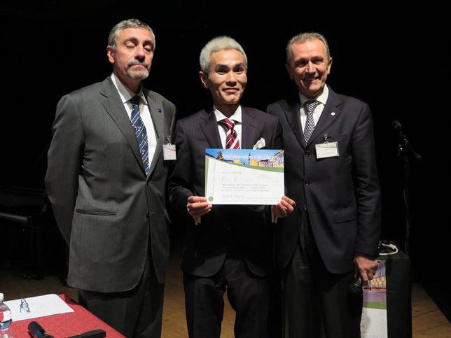 平成25年10月 INTERNATIONAL AIG PRIZE BEST POSTER at AIG in Torino,Italy