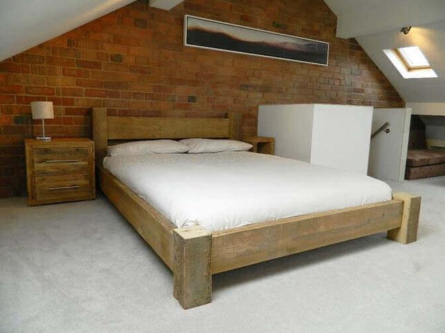 Кровать стиль лофт
