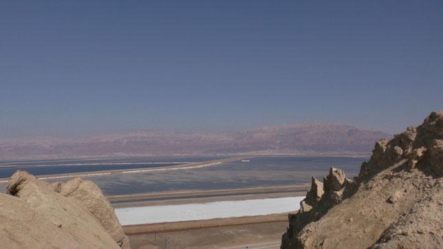 Вид со склонов горы Содом