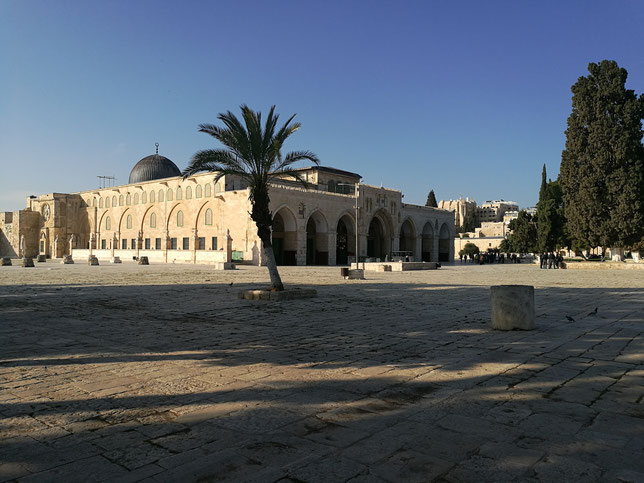 The Farthest Mosque (Al-Aqsa) view from the east