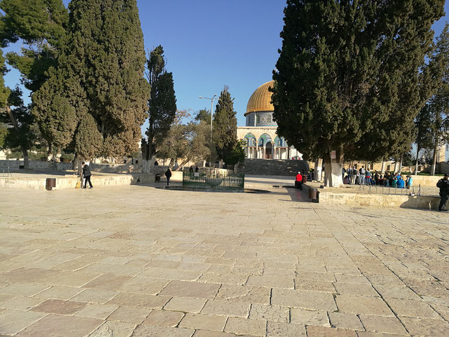Temple Mount's platform today