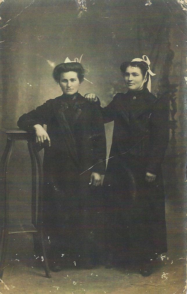 Archives familiales. Photo  prise en studio probablement à Dinan au début du XXème  siècle.