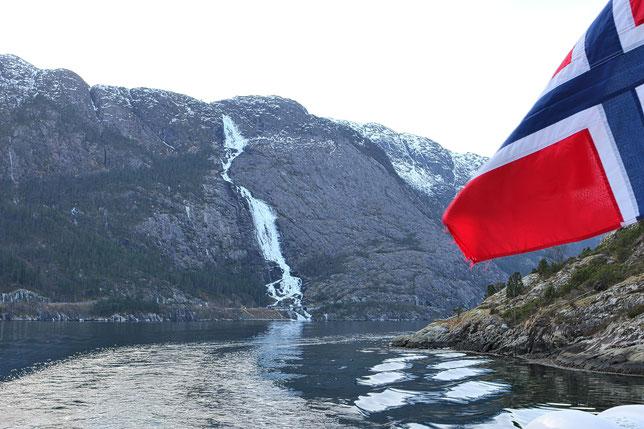 Langfossen - Winter im hohen Norden