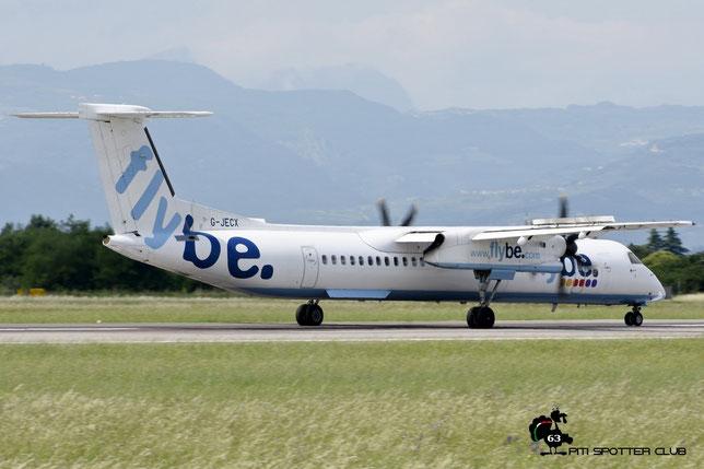G-JECX DHC-8-402 4155 Flybe - British European @ Aeroporto di Verona - 11/06/2016 © Piti Spotter Club Verona