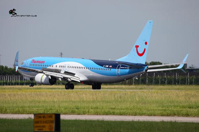 G-TAWI B737-8K5 37267/4006 Thomson Airways @ Aeroporto di Verona - 18/06/2016 © Piti Spotter Club Verona