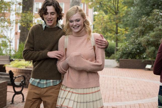 Timothée Chalamet et Elle Fanning, jeune couple d'amoureux dans le nouveau film de Woody Allen (©Mars Distribution).