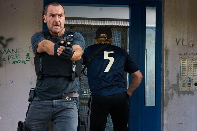 Gilles Lellouche est l'un des trois policiers au centre du film (©Jérôme Macé/Chifoumi Productions).