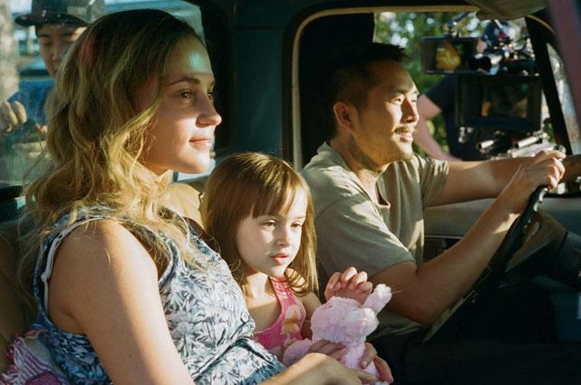 Kathy, Jessie et Antonio (Alicia Vikander, Sydney Kowalske, Justin Chon) forment une famille unie, jusqu'au jour où les ennuis arrivent (©Focus Pictures/UPI).