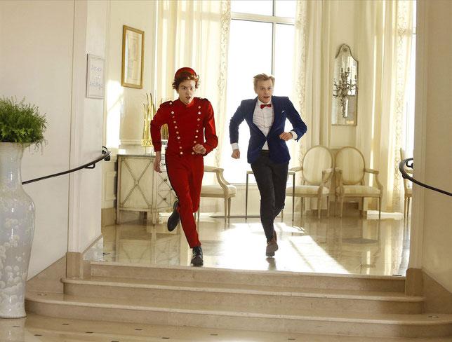 Thomas Solivérès (à gauche) et Alex Lutz interprètent Spirou et Fantasio (©Fidélité Films).
