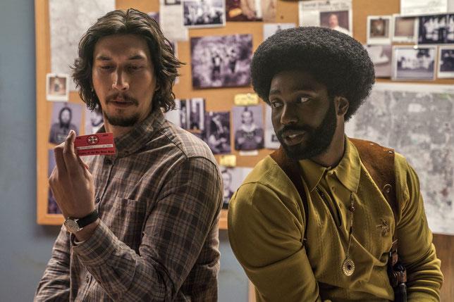 Le policier noir (John David Washington) et son collègue blanc (Adam Driver) vont infiltrer le KKK (©UPI).