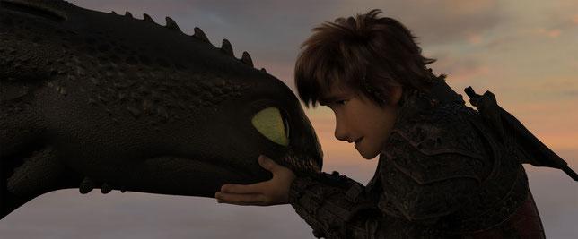 Harold le jeune chef et son dragon Krokmou sont toujours aussi unis (©UPI France).