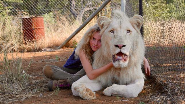 Mia l'adolescente et Charlie le lion blanc sont amis pour la vie... (©Kevin Richardson/StudioCanal).