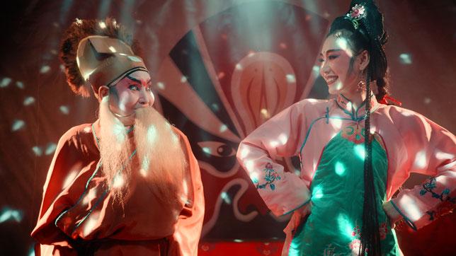 Les comédiens de l'opéra chinois, menacé de disparition, tentent de survivre (©Epicentre Films).