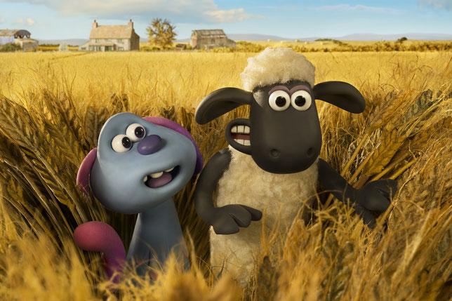Shaun le mouton doit protéger LU-LA, une créature extra-terrestre (©StudioCanal).
