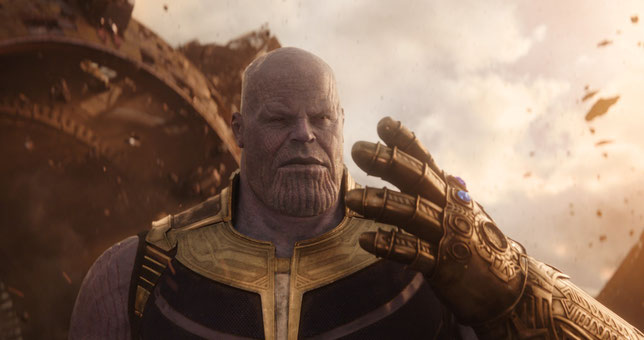 Le méchant c'est lui: Thanos (©The Walt Disney Company/Marvel Studios).