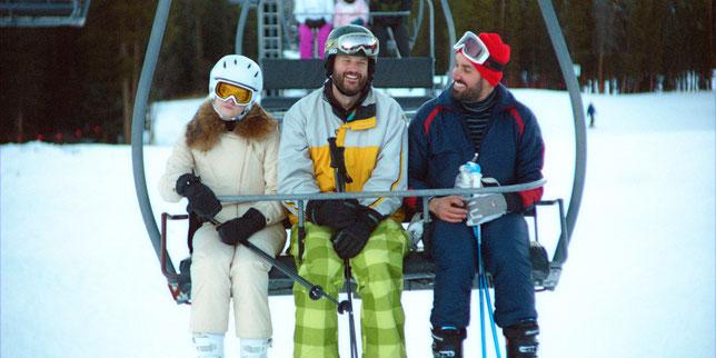 Kyle (Kyle Marvin, au centre) et Mike (Michael Angelo Covino, à droite) se connaissent depuis l'enfance mais leur amitié va être mise à l'épreuve (©Topic Studios/Metropolitan Films).