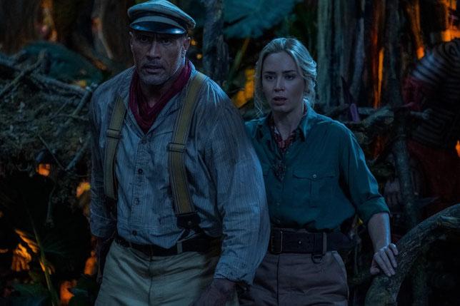 Le capitaine Frank Wolff (Dwayne Johnson) et la scientifique Lily Houghton (Emily Blunt) vont vivre des aventures hors du commun en Amazonie (©Walt Disney).