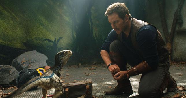Chris Pratt sait parler aux dinosaures (©UPI).