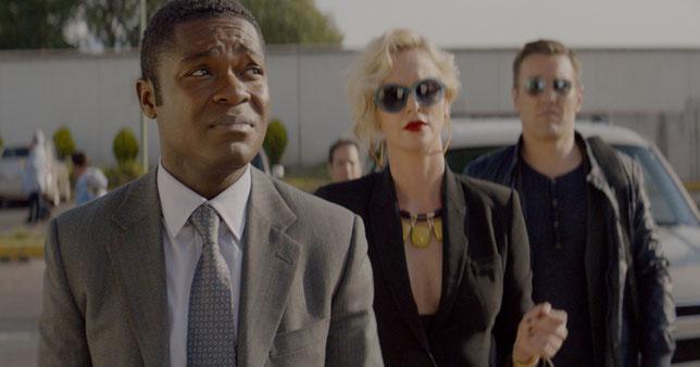 David Oyelowo, Charlize Theron et Joel Edgerton (de gauche à droite): un trio aux prises avec les narco-trafiquants mexicains (©Metropolitan FilmExport).