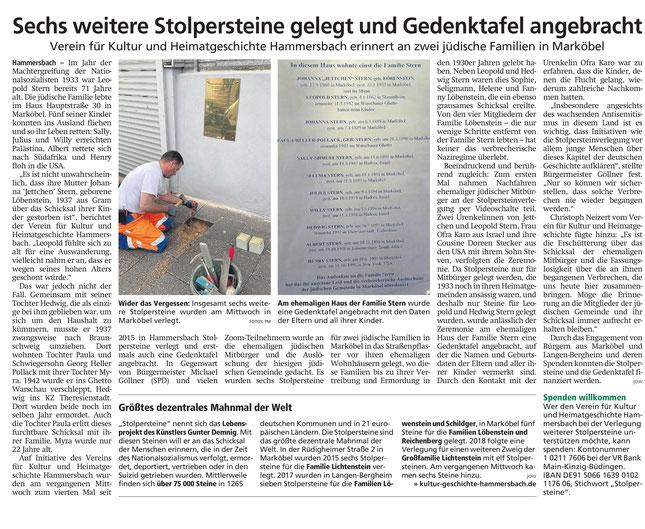 Hanauer Anzeiger vom 26.5.2021, Seite 14; mit freundlicher Genehmigung des Hanauer Anzeiger. Vielen Dank!