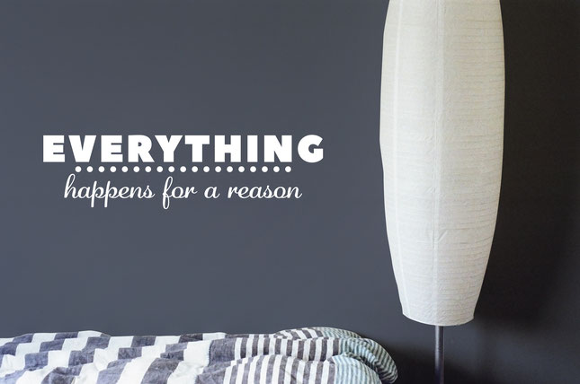 Everything Happens For a Reason wall art sticker from  wallartcompany.co.uk