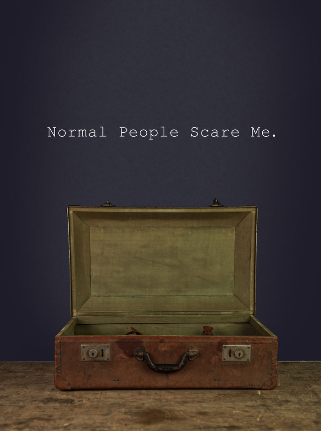 Normal People Scare Me wall art sticker from wallartcompany.co.uk