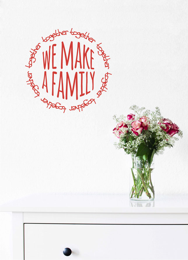 Together we make a Family wall art sticker. From wallartcompany.co.uk