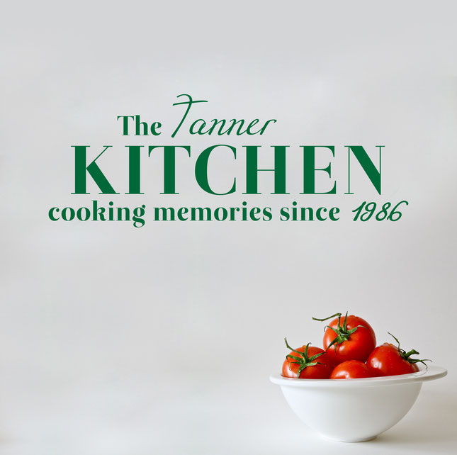 The [Your Last Name] Kitchen cooking memories since [Your Date] for decoration. From www.wallartcompany.co.uk
