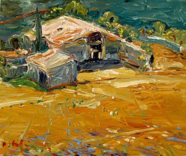 Gehöft bei Ferrassières   2003, Öl auf LW, 46 cm x 55 cm