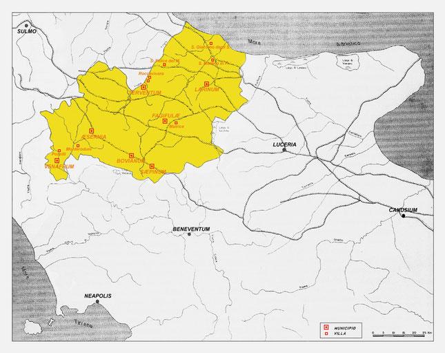 Municipia romani dell'attuale territorio del Molise