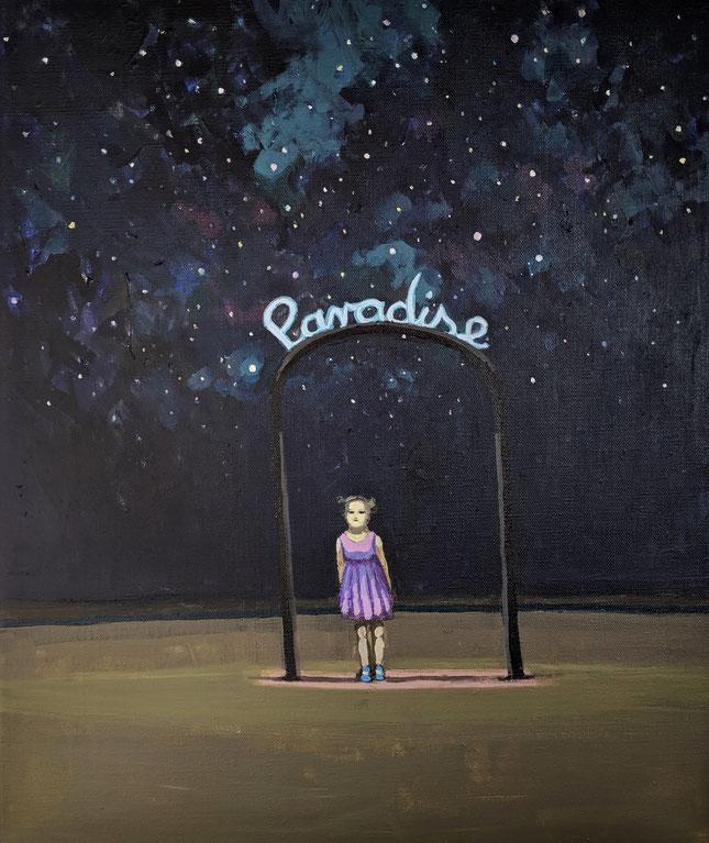 paradise - Acryl auf Leinwand, 60x50cm, 2019 | verkauft