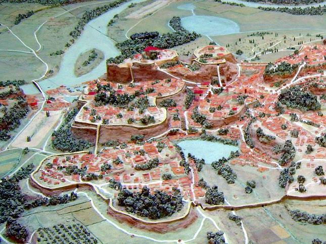 Modell des archaischen Roms zur Zeit der Tarquinier