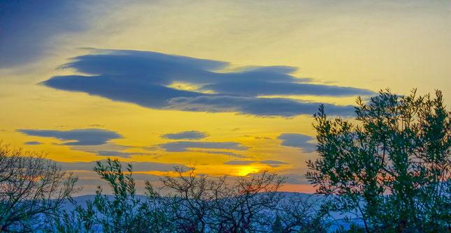 Seminar Entspannung in der Spannung, Wolkenengel, Sonnenuntergang, © Carmen Weder - Art of Moment
